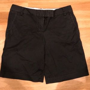 "J crew ""city fit "" black shorts"